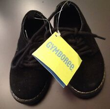 NWT Gymboree Boys Black Suede Holiday Shoes Nice Child Size 5.