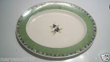 Royal Doulton Carmina TC 1277 Green Olive Oval Meat Serving Platter Plate cLOSeT