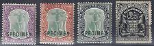 MONTSERRAT 1903 SG 20 22 SHILLING VALUE SPECIMEN OVPTS +7sh 6d BRITISH SOUTH AFR