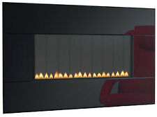 Punto focale PIANOFORTE GPL GAS FIRE NERO PLASMA VETRO 2.6 KW flueless Wall Hung MOUNT
