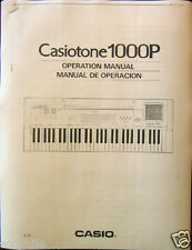 Owner's User's Operating Manual for Casio 1000P Digital Keyboard (CT1000P)