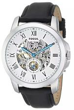 Fossil Men's ME3053 Grant Automatic Skeleton Dial Black Leather Watch
