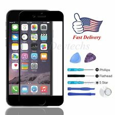 for Apple iPhone 6 6S 4.7'' Front Screen Lens Glass Replacement Repair Kit Black