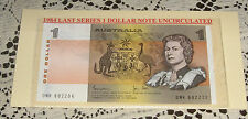 Australian 1 Dollar Note 1984 Uncirculated in Plastic Display Card Nice