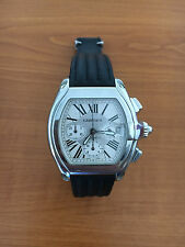 Cartier Roadster Chronograph XL Men Watch Stainless Steel 2618 Full Kit