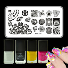 5pcs/set Watermarble Theme Nail Art Stamp Template Plate & Stamping Polish Kit