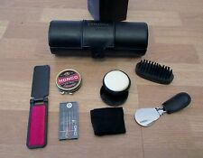 Black Leather Amenity Travel Kit (Shoe Shine and Garment Care)