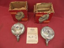 Vintage NOS Lucas Driving Lamp SFT576 Fog Lamps Dated 1964