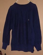 VINTAGE CHAMPION REVERSE WEAVE WARMUP BLUE SWEAT SHIRT LITTLE LOGO-M !