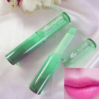 New Magic Temperature Color Changing Lipstick Moisturing Lip Balm Green to Pink
