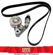 Drive Belt Tensioner/Pulley & Belt SET-for Nissan Patrol GU 3.0TDi ZD30 (00-07)