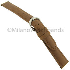 14mm T&C Genuine Crazy Horse Leather Tan Stitched Ladies Watch Band 521690