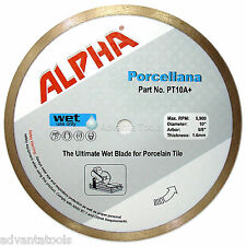 "10"" Alpha Porcellana Porcelain Wet Tile Diamond Saw Blade"
