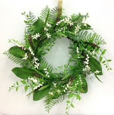 "Garden Wedding Mixed Greenery Vine Wreath. Lily of the Valley. Artificial. 20""."