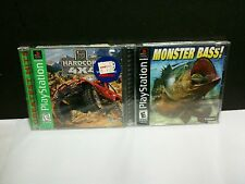 TWO NEW FACTORY SEALED PLAYSTATION 1 GAMES HARDCORE 4X4 & MONSTER BASS FISHING