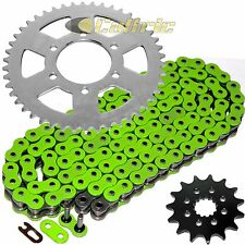 Green O-Ring Drive Chain & Sprockets Kit Fits KAWASAKI EX650 Ninja 650R 06-14