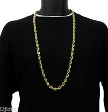 """14K Gold Plated Necklace Rope Chain 36"""" Inch RUN DMC Dookie Big 10mm"""