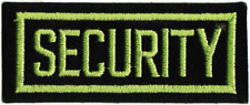 20179 Security Light Green & Black Bouncer Bar Safe Embroidered Iron On Patch
