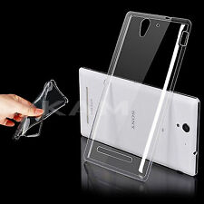 Ultra Thin TPU Soft Clear Gel Silicon Case Cover For Sony Xperia C3 D2533
