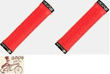 LIZARD SKINS MOAB LOCK-ON FIRE RED BICYCLE GRIPS