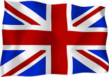 GB UK Union Jack Wavey Flag Car Scooter Exterior Vinyl Sticker Decals