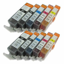 10 Pack PGI-220 CLI-221 Ink For Canon PGI220 CLI221 Pixma iP3600 iP4600 iP4700