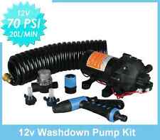 New 70 PSI Washdown Spray Pump Kit 5.5 GPM Boat Marine RV Replace Jabsco Shurflo