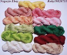 Filati maglia uncinetto gomitoli matasse 100Gr 100% Cotone colorato