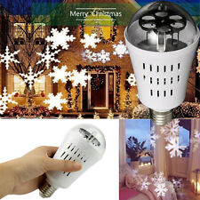 1X 4W E27 LED Snowflake Projection Bulb Lamp Indoor Stage Disco Party Ball Light