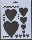 Plastic/PVC/Coated/Paper/Stencil/Multi/Heart/Designs/CHECK DETAILS