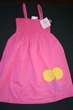 NEW HANNA ANDERSSON Smockie Sundress  smocked Dress Pink yellow flowers 150
