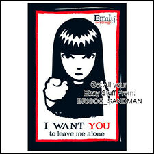 "Fridge Fun Refrigerator Magnet EMILY THE STRANGE ""I WANT YOU TO LEAVE ME ALONE"""