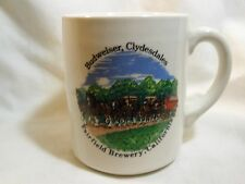 BUDWEISER BEER CLYDESDALES '86 OFF-WHITE FAIRFIELD BREWERY, CA MUG / CUP / STEIN
