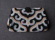 VINTAGE MICROBEADED SQUEEZE OPENING MINIATURE PURSE BELGIUM FOR SAKS 5TH AVENUE