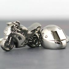 3d Metal Motorcycle Helmet and Superbike Keychain Combo