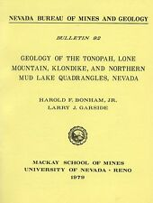 Tonopah, NV, GOLD MINES, 1st ed report, only 2,000 printed, 2 BIG detached maps