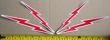 "LOT OF 4 GLOSSY STICKERS, ""LIGHTNING"", FOR INDOOR OR OUTDOOR USE."