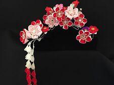 Thumami Kanzashi, Maiko style Flower Hair Accessories SET,Japan Kimono