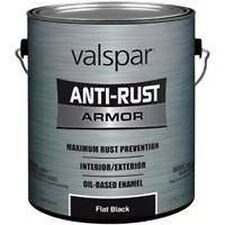 NEW GALLON VALSPAR 6408090 FLAT BLACK ANTI-RUST INDUSTRIAL ENAMEL OIL PAINT SALE