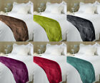 EMBOSSED SATIN BED RUNNER THROW BEDDING DUVET END RUNNER - SIZE 45CM X 220CM