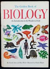 RARE 1967 The Golden Book of Biology SIGNED by CHARLES HARPER Golden Press VG+