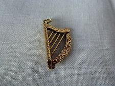 9ct 9 carat or jaune charme traditionnel, harpe celtique musique