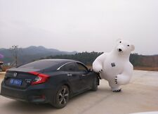 2.8m Inflatable Mascot Costume Inflatable Polar Bear For Advertising For1.6-2.2m
