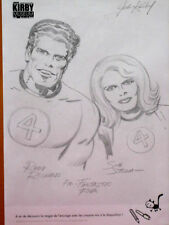 JACK KIRBY INKING SHEET REED & SUE FANTASTIC FOUR SUPER RARE FRENCH EXCLUSIVE