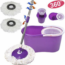 Magic Spin Microfiber Spinning Mop With Bucket & 2 Heads Rotating easy floor mop