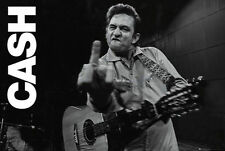 JOHNNY CASH MIDDLE FINGER SALUTE POSTER - 24x36 SHRINK WRAPPED HORIZONTAL 33412