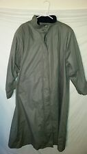 Womens Vintage VTG London Fog Gray Trench Coat Removable Liner Sz Reg 16