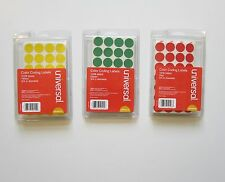 "3024 UNIVERSAL 3/4"" ROUND COLOR CODING LABELS STICKER DOTS INVENTORY CODE"