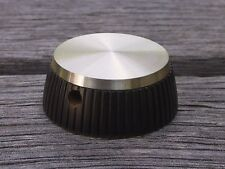 1 NOS PEKALIT Large Metal Cap Bakelite Knob for Pre/Power Amplifiers