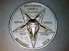 Lucifer / Morning Star / Satan / Pentecostal  - Misty Silver 3D Coin   1 1/2""